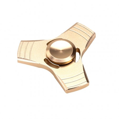 Fidget Spinner Mettalic Gold Triangle