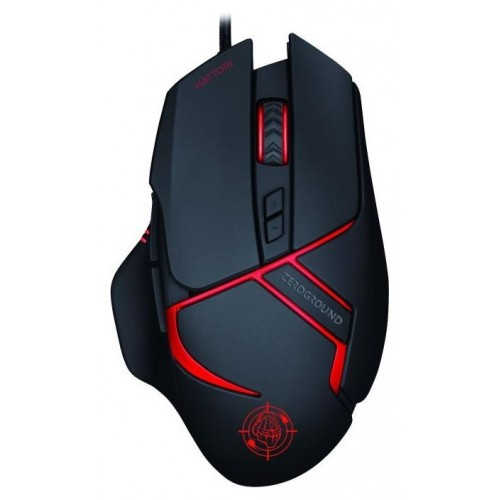 Mouse Zeroground MS-3400G HATTORI V3.0 Wired Gaming 3200dpi